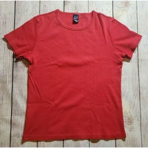 Vintage Gap Cotton Red T Shirt Womens Size Large